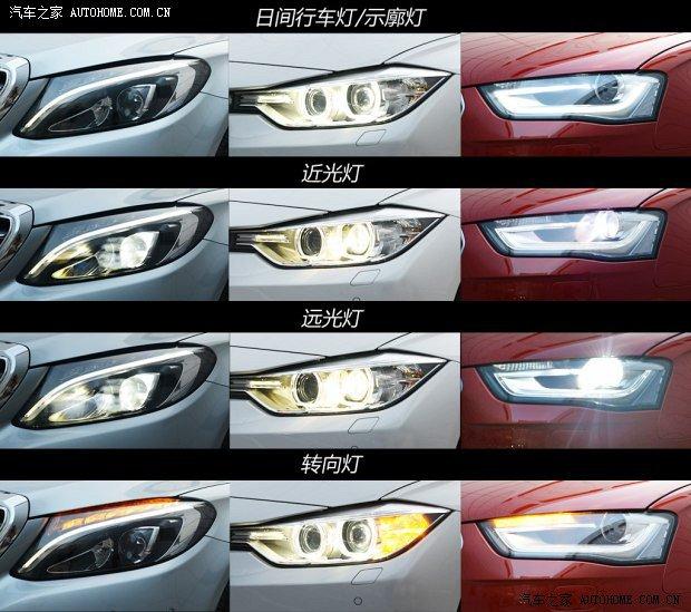 在大灯方面,C200L 的灯组更为鬼魅,采用全 LED 光源,科技含量相比其他二者稍强一些。320Li 和 A4L 则为远近光一体的氙气大灯。这三款车都不标配随动转向大灯,不过 320Li 和 A4L 可以通过选装解决这一问题。